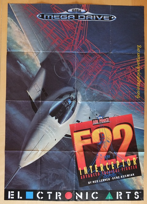 EA Sega Air Force F22 Interceptor front