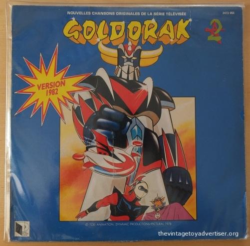 "France. Goldorak 12"" vinyl record. Saban Records & Music. 1982."