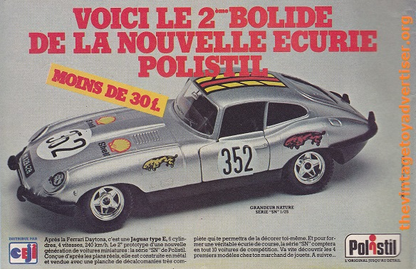 Pif 653. 1981. Polistil Jaguar E type