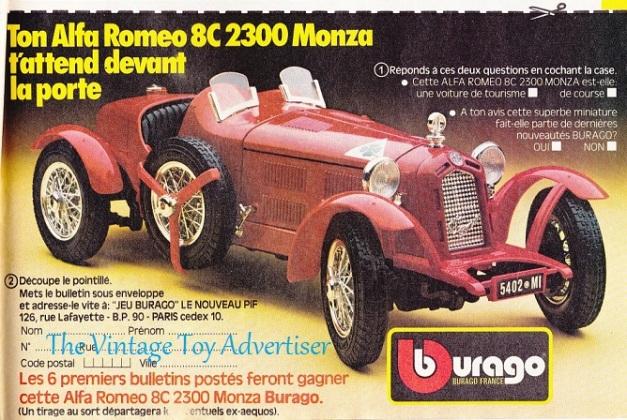 PIF 869_ Burago car_ 1985 POSTwm