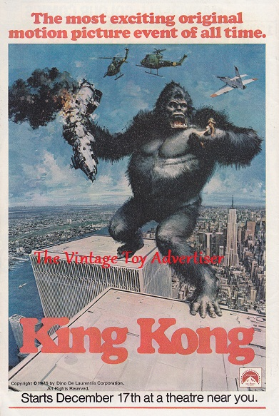 The defenders. 46. 1977. King Kong movie adwm