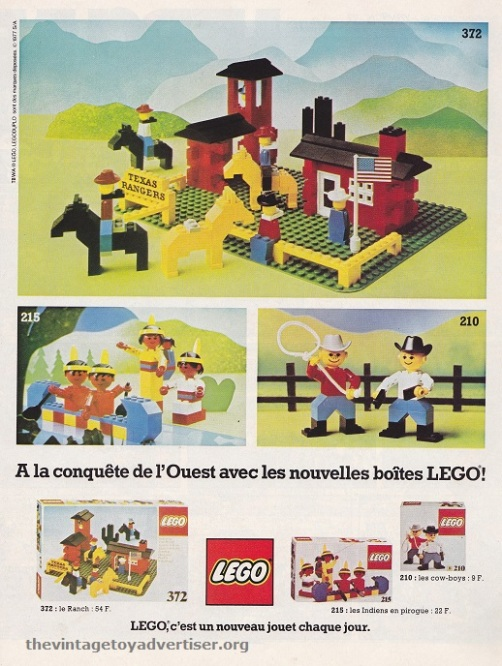 France. 1977. Featuring Lego sets 210, 215 372.