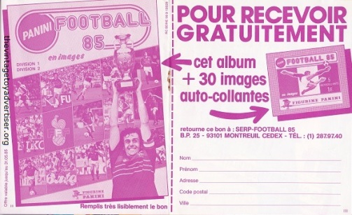 France. Back pages of magazine insert. 1988.