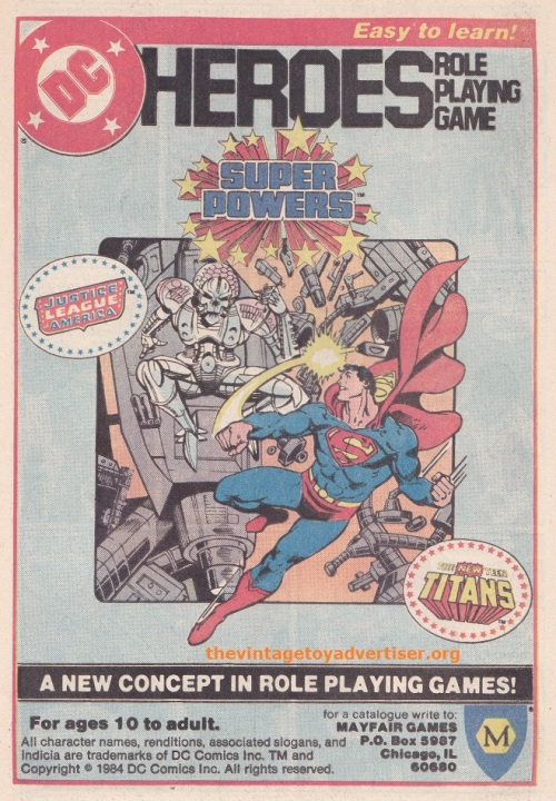 US_DC Tales of the teen Titans_Mar 1985_Superpowers RPG