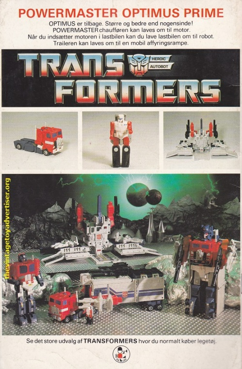 Denmark. The Transformers. 1989.