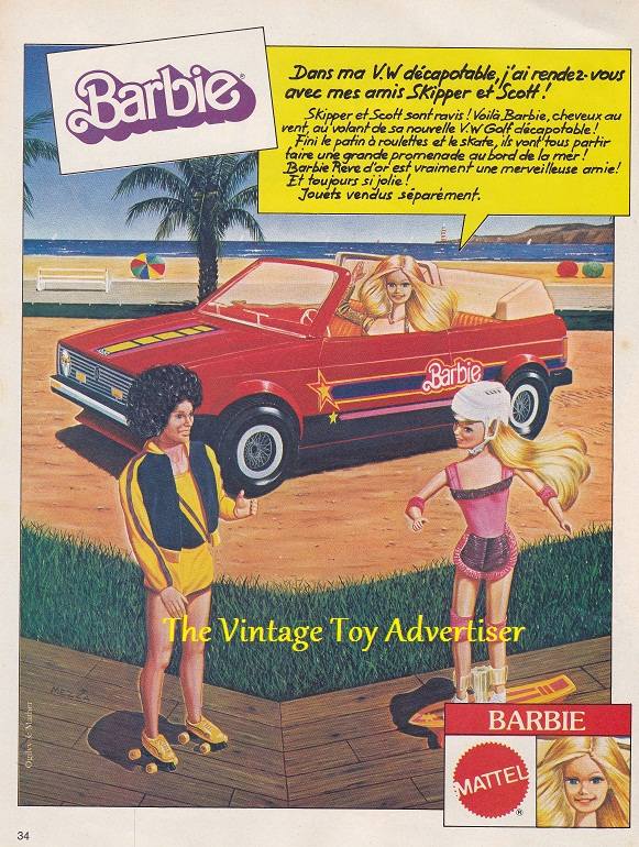 Pif 654 1981 Barbie VW Golfwm