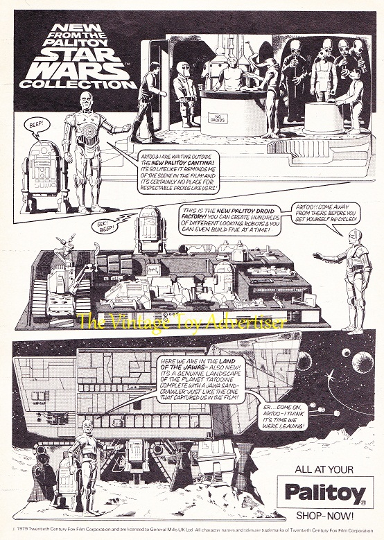 Star Wars Weekly comic No 89 1979 Palitoy toy adwm