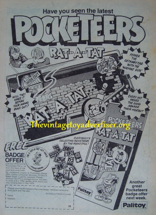 Pocketeers  rat a ta Marvel Comic UK Apr 1979
