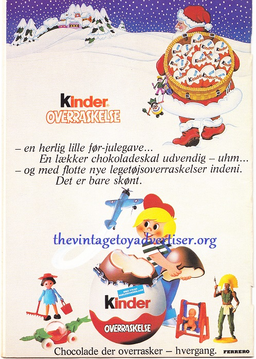 And finally, a very cute and Christmassy 1979 Danish Kinder Surprise advert. Chocolate and toys? A winning combination at TVTA that's for sure!
