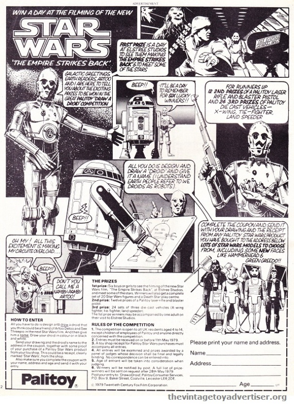 Look In. 15. 1979. Star Wars Palitoy POST