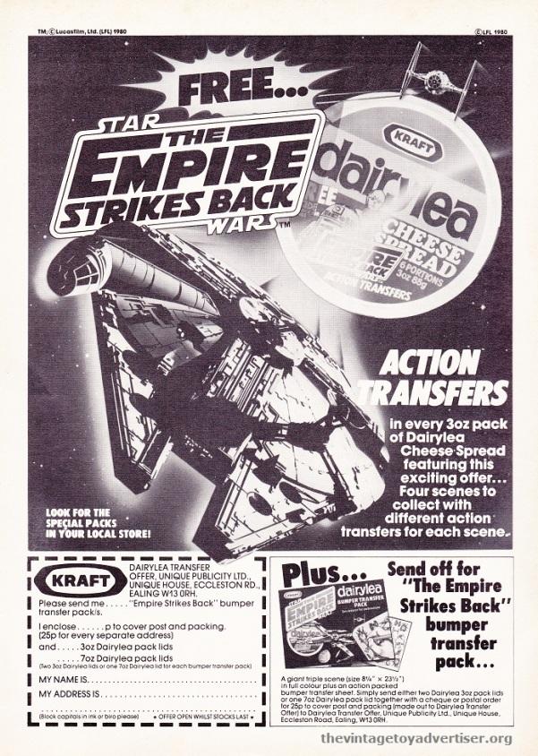 Marvel TESB Weekly UK 119 1980 ESB Dairylea Action Transfers POST