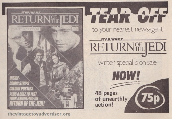 ROTJ magazine UK_Jan 18 1984_newsagent ad POST