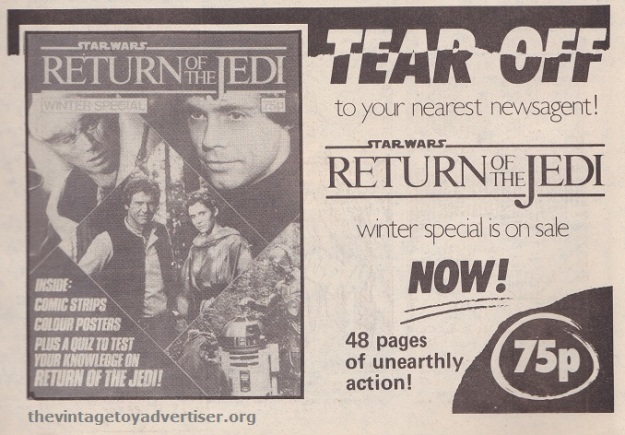 ROTJ magazine UK_Jan 18 1984_newsagent ad POST
