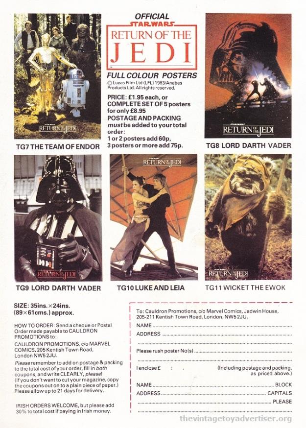 ROTJ magazine UK_Jan 18 1984_posters POST