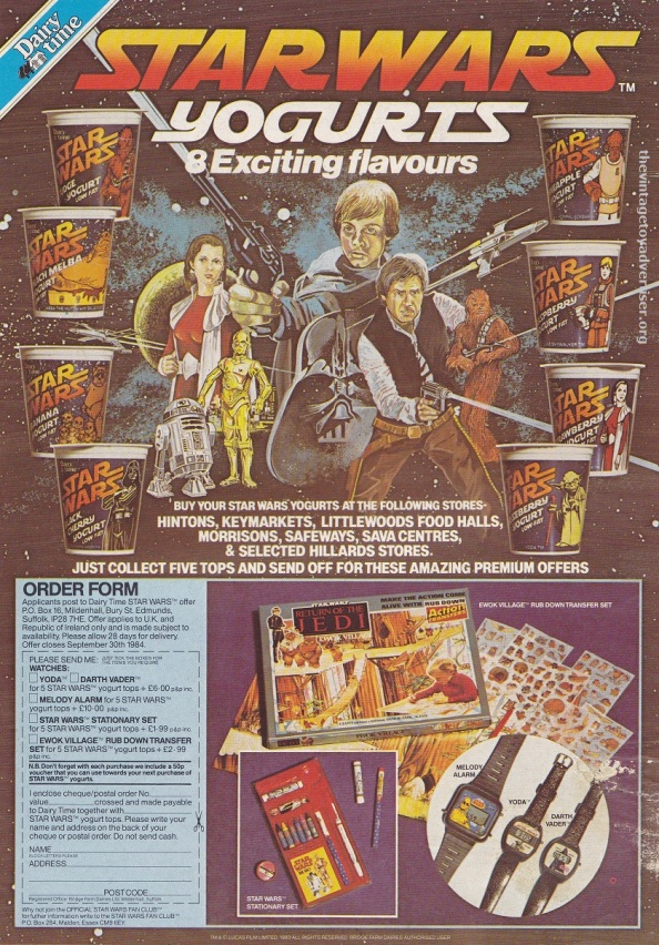 ROTJ magazine UK_Jan 18 1984_Yoghurt POST