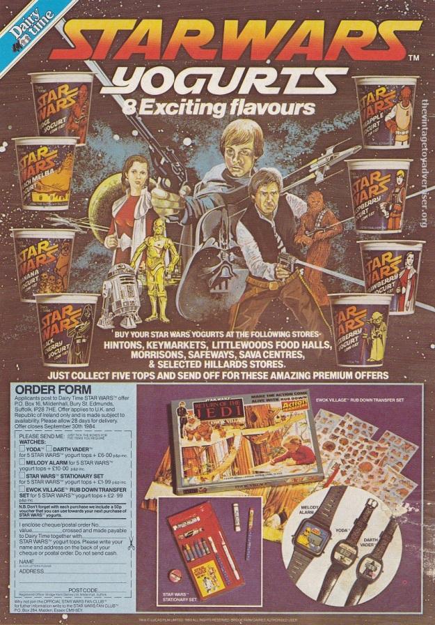 ROTJ magazine UK_Jan 18 1984_Yoghurt POST
