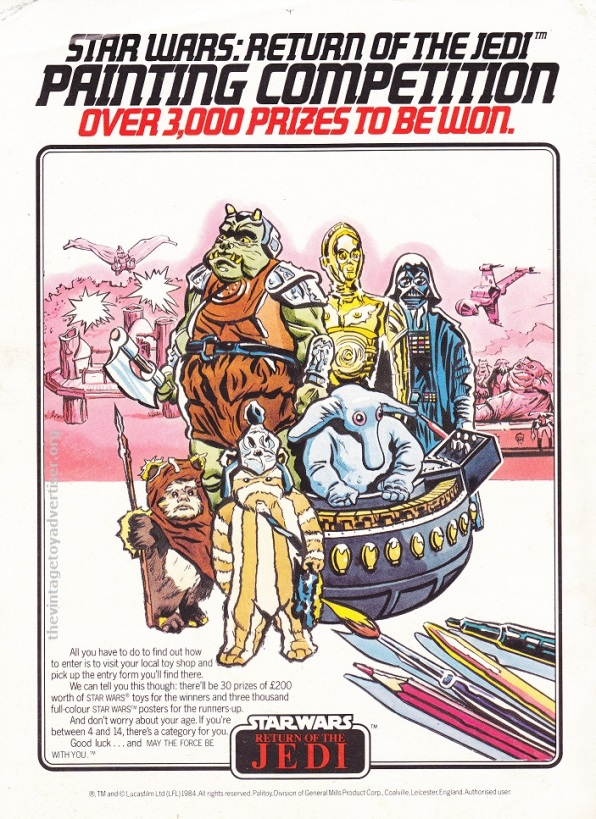 ROTJ magazine UK_July 18 1984_Pali paint comp with Rebo POST