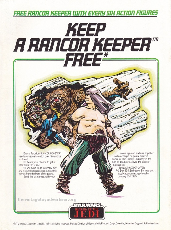 ROTJ magazine UK_Sept 1 1984_Keep a Rancor free POST