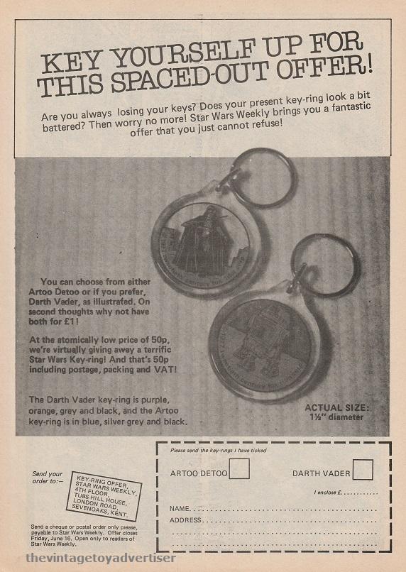 SW Key Rings SWWeekly 1978 UK