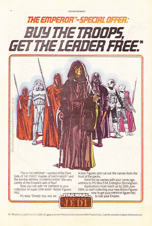 SW Palitoy ROTJ Emperor Offer 1984 POST