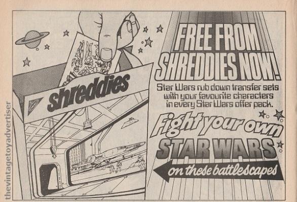 SW Shreddies Transfers SWWeekly 1978 UK
