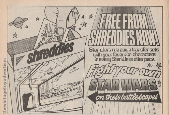 SW Shreddies Transfers SWWeekly 1978 UK