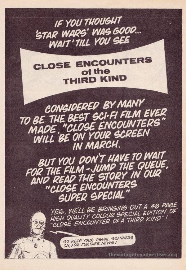 SW UK CloseEncounters C3PO 1978 TMWOM POST