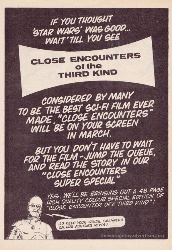 SW UK CloseEncounters C3PO 1978 TMWOM POST