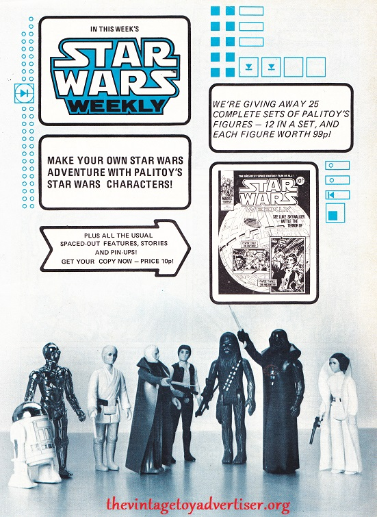 STAR WARS toys and merchandising adverts from around the