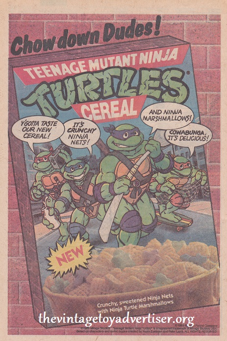 1989 US Teenage milky ginger turnips... the alternative breakfast! Sewer snacks anyone? Eww, dudes!