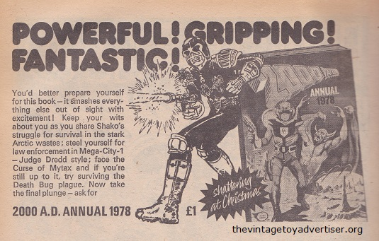 UK. 2000 AD. 44. 1977. Advert for the 1978 edition 2000AD annual.
