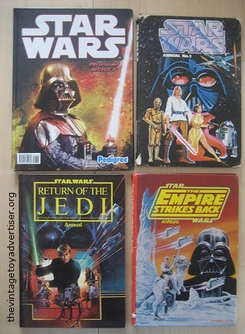Star Wars annuals: childhood and editions found later.