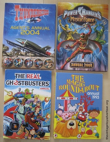 Various annuals from '90s and 2000s.
