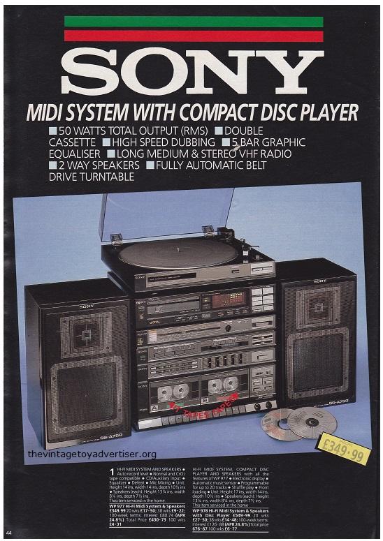 Autumn Bargains Cat 1986 Sony Midi System POST