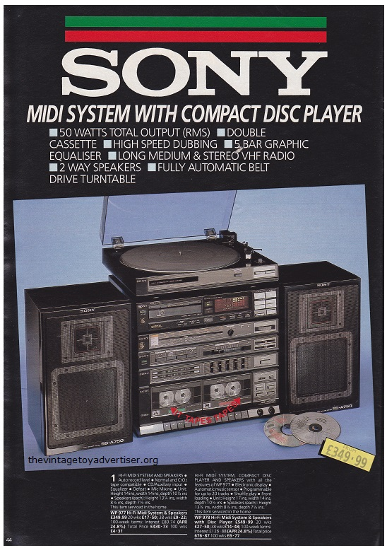 Autumn Bargains Cat 1986 Sony Midi System POST