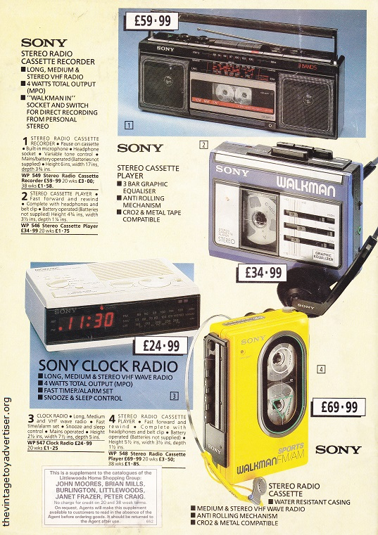 Autumn Bargains Cat 1986 Sony Portables POST