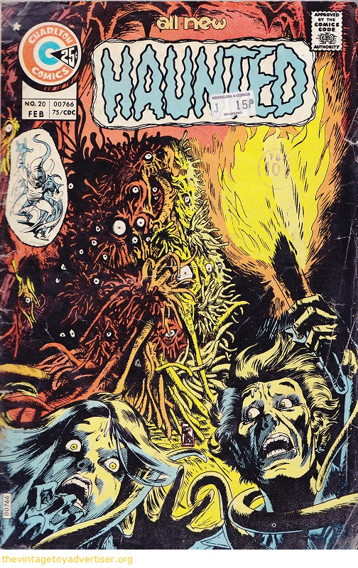 Cover art by Tom Sutton. USA. Cgarlton Comics. All New Haunted issue 20. Feb 1975.