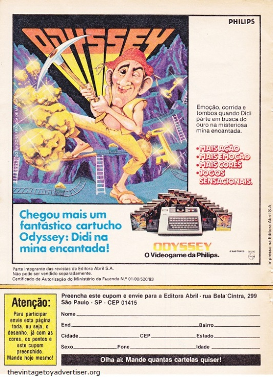 Pateta 36 1984 Odyssey Philips videogame