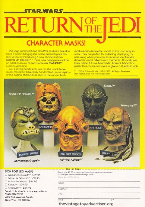USA. Starlog N° 76. 1983. Masks by Don Post.
