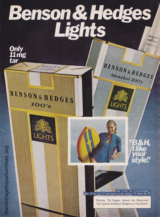 TIME May 19 1980 Benson and Hedges Lights POST