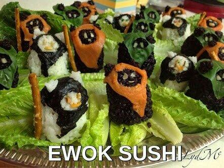 Ayun! Yub nub! Caravan of sushi! Photo by LydMc.