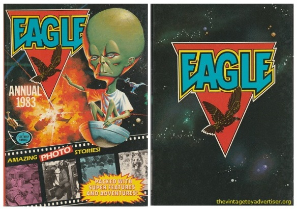 Front and back cover of Eagle annual, 1983.