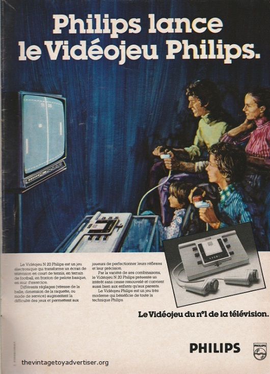 Early video game advertising from Philips. France. Télé Junior N° 4. 1977.