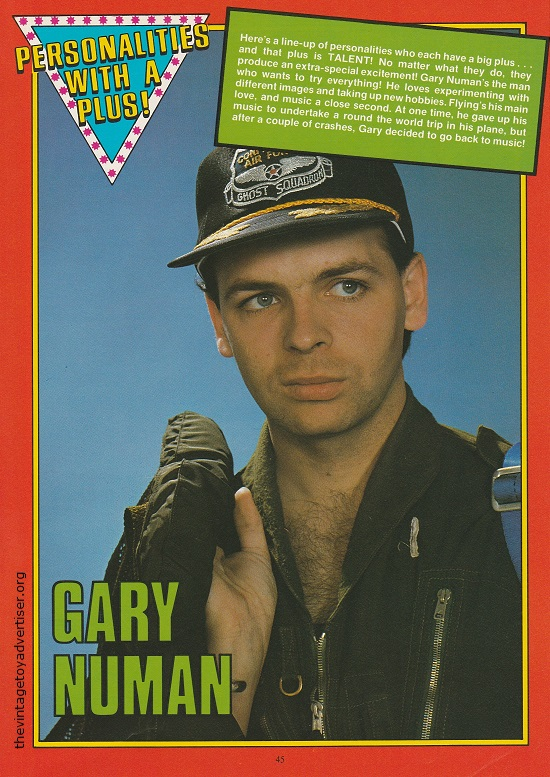 Gary Numan as featured in 'Personalities With A Push'.