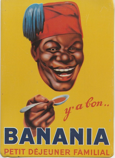 Scan of a reproduction tin plate advert from the 1930s. These reproduction ads are popular throughout France.