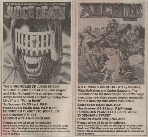 UK. 2000 AD progs 317 / 318. 1983.