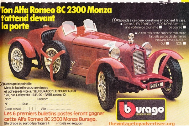 PIF 869_ Burago car_ 1985
