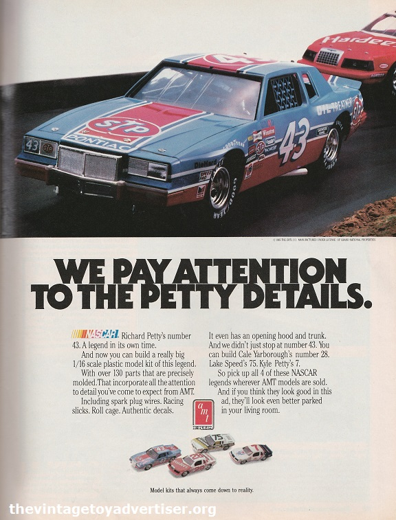 Richard Petty's Nascar number 43. by AMT. US. Fine Scale Modeller. 1986.