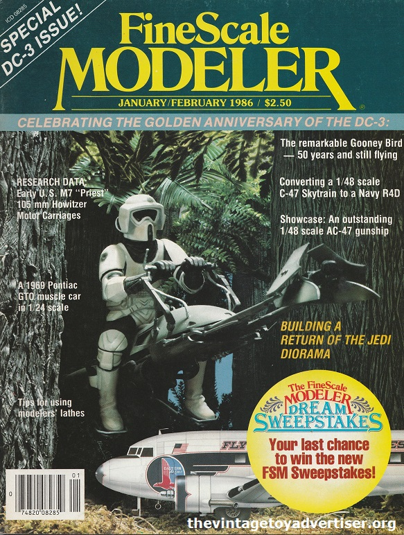Fine Scale Modeller cover for Jan / Feb 1986.