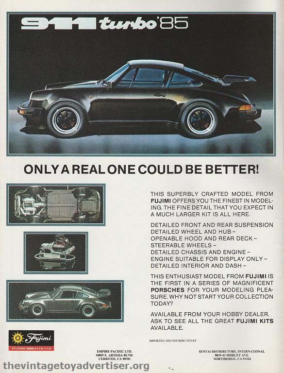 Porsche 911 by Fujimi. US. Fine Scale Modeller. 1986.
